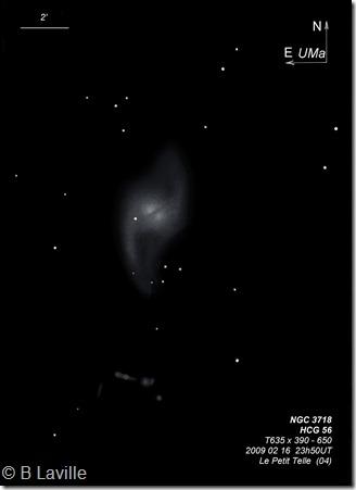 NGC 3718  HCG 56  T635  BL