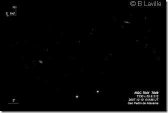 NGC 7041 7049  T330  BL 2007 10 10