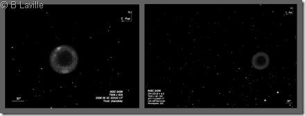 NGC 2438  T508 vs T635