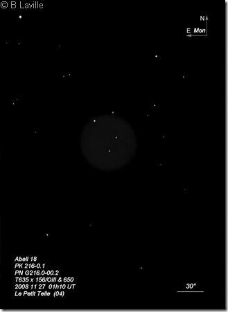 Abell 18  PN G216.0-00.2  T635  BL