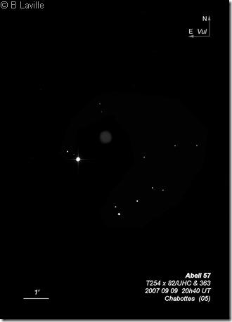 Abell 57  PK 58 06.1  T254  BL 2007 09 09