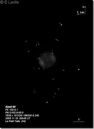 Abell 80  PN G102.8-05.0  T635  BL