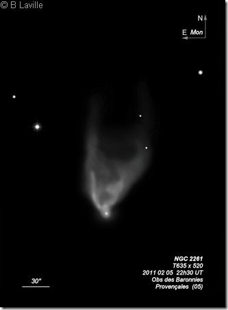 NGC 2261  T635  BL 2011 02 05