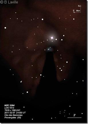 NGC 2264  T635  BL 2011 02 04