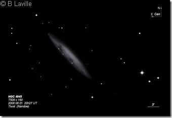 NGC 4945  T508  BL  Tivoli Namibie 2008