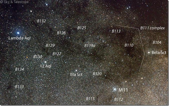 B 111 region Sct cloud Sky & Telescope