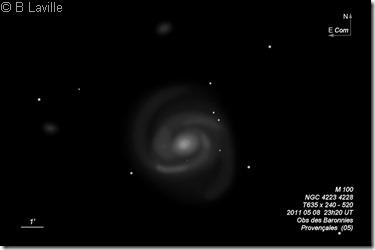 M 100  NGC 4323 28  T635  BL 2011 04 08