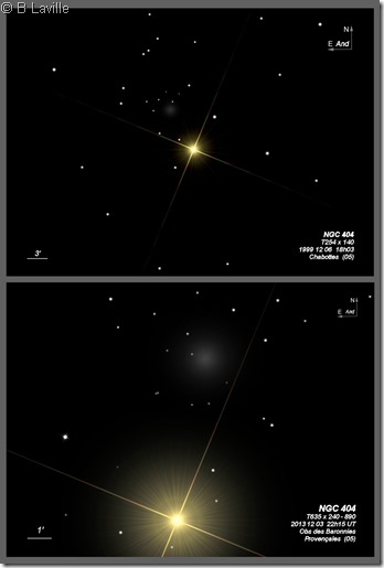 NGC 404  T254 vs T635
