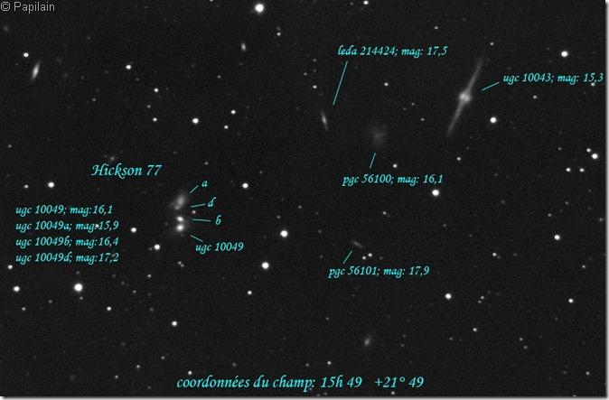 HCG 77 UGC 10049 49A 49C 49D T280 Papilain Astrosurf