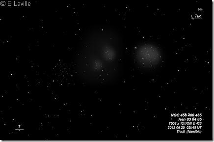 Hen 83 84 85  NGC 456 460 465  T508  BL 2012 06 25