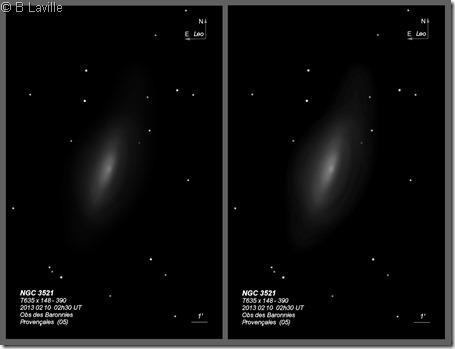 NGC 3521  T635 BL 2013 vs 2017