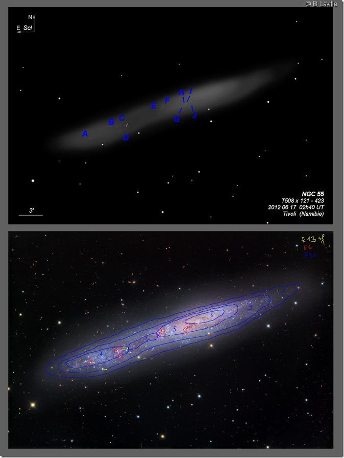 NGC 55  T508  BL 2012 06 18 HII regions