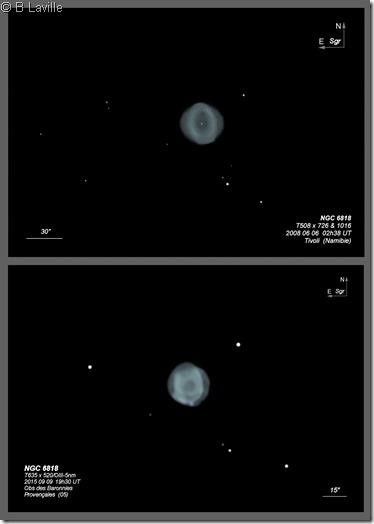 NGC 6818  T508 vs T635 BL