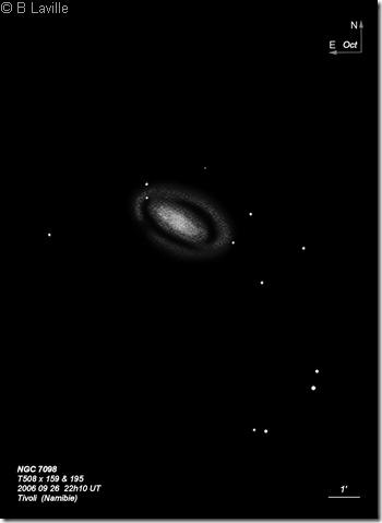 NGC 7098  T500  BL  2006 09  Namibie Tivoli