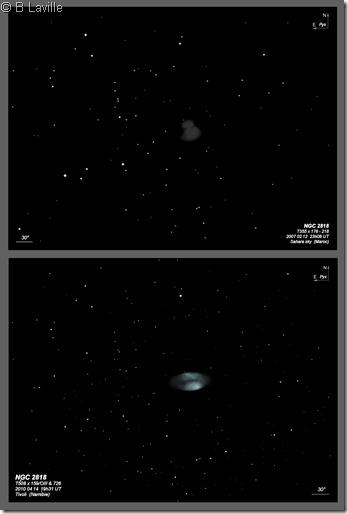 NGC 2818  355 vs 508 BL