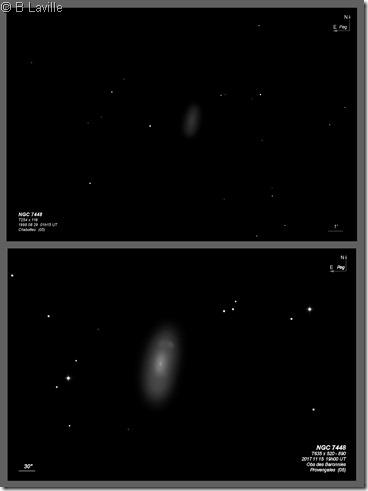 NGC 7448  T254 vs T635 BL