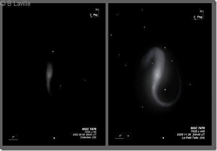 NGC 7479  T254 vs T635