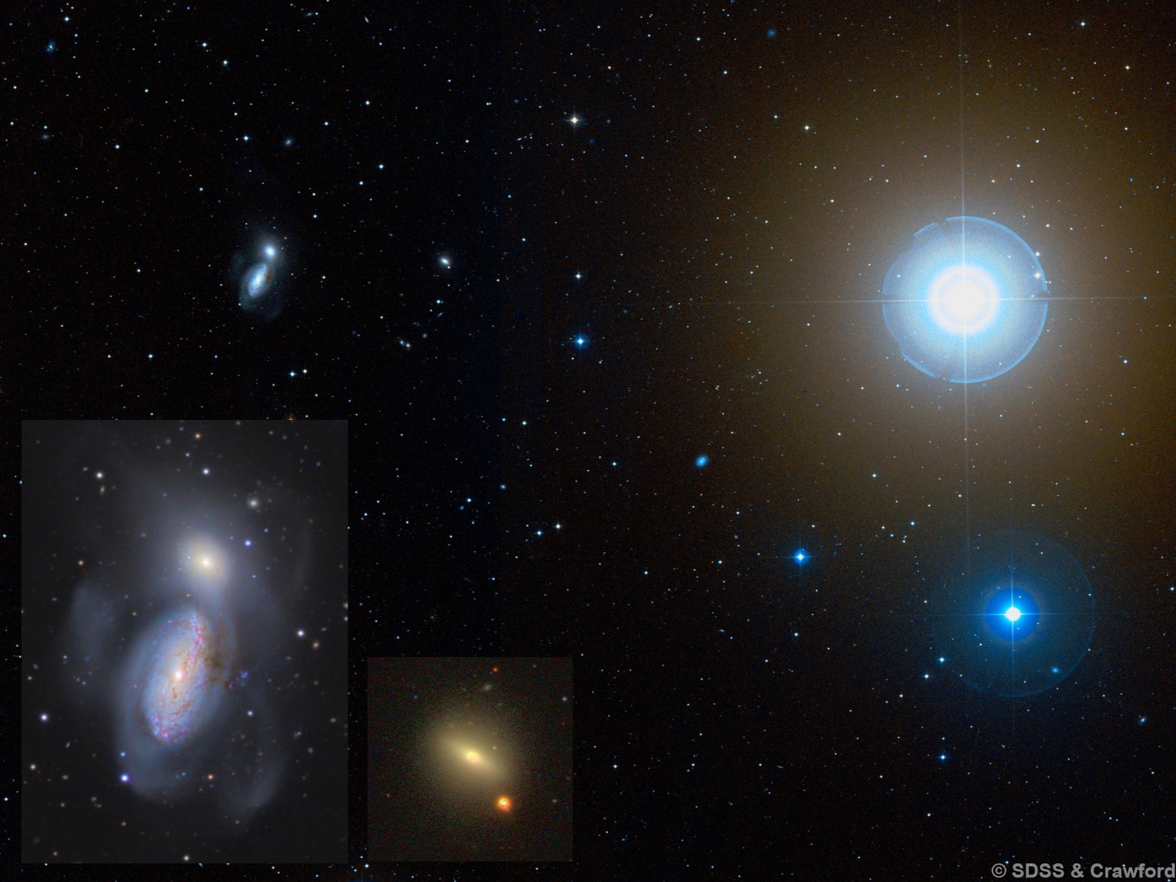 NGC 3222, NGC 3226, NGC 3227