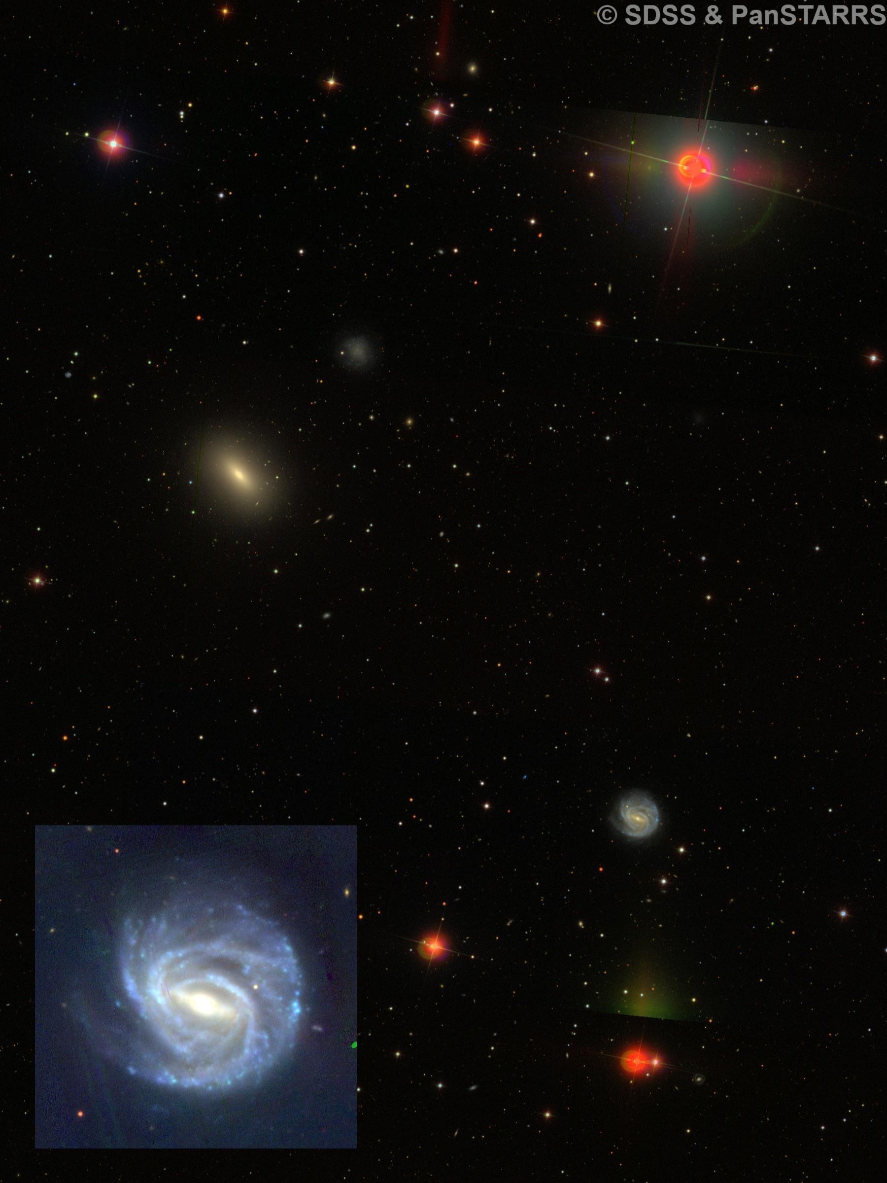 NGC 3367 & NGC 3377 & NGC 3377A