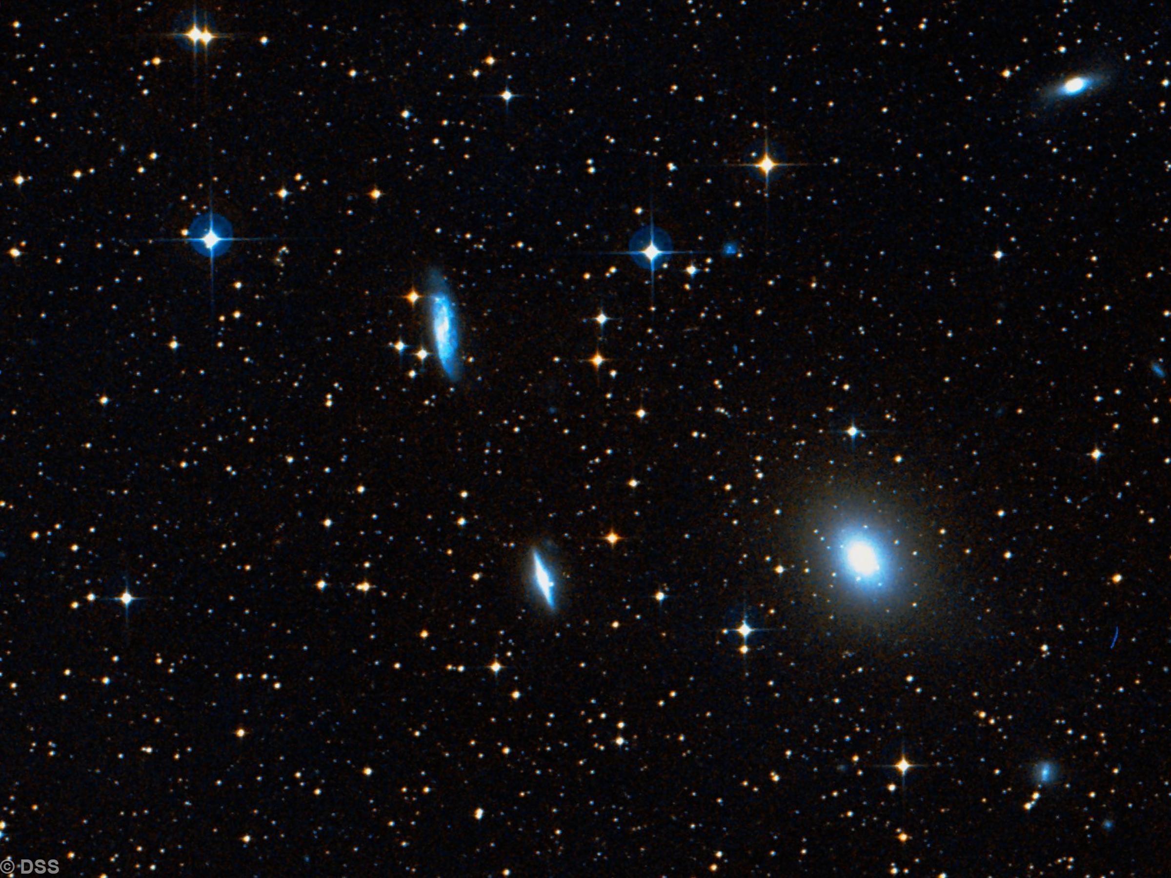 NGC 3557, NGC 3557B, NGC 3564, & NGC 3568,