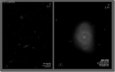 NGC 4526 4535  T254 vs T635 BL