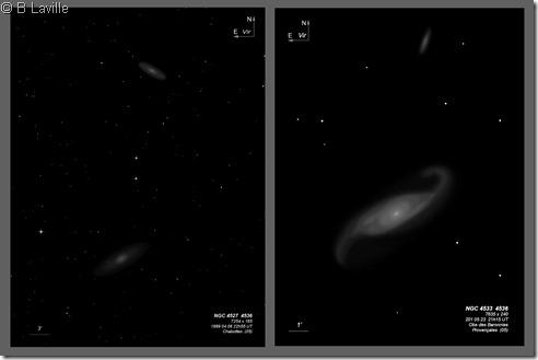 NGC 4527 4536  T254 vs T635