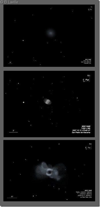 NGC 2440  T254 vs T45 vs T635 BL
