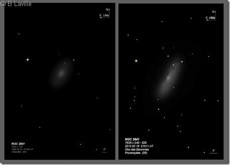 NGC 2841  T254 vs T635 BL