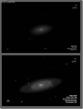 NGC 4274  T254 vs T635 BL