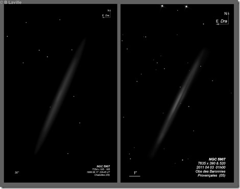 NGC 5907  T254 vs T635