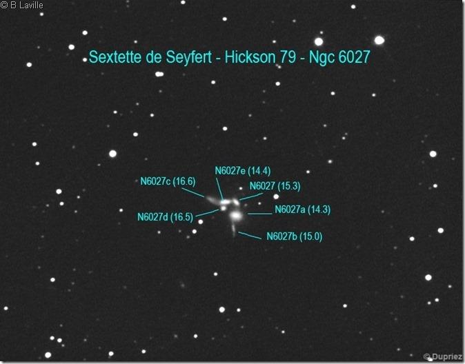 HCG 79  NGC 6027 A à E Seyfert Sextet T203 Christian D  Astrosurf