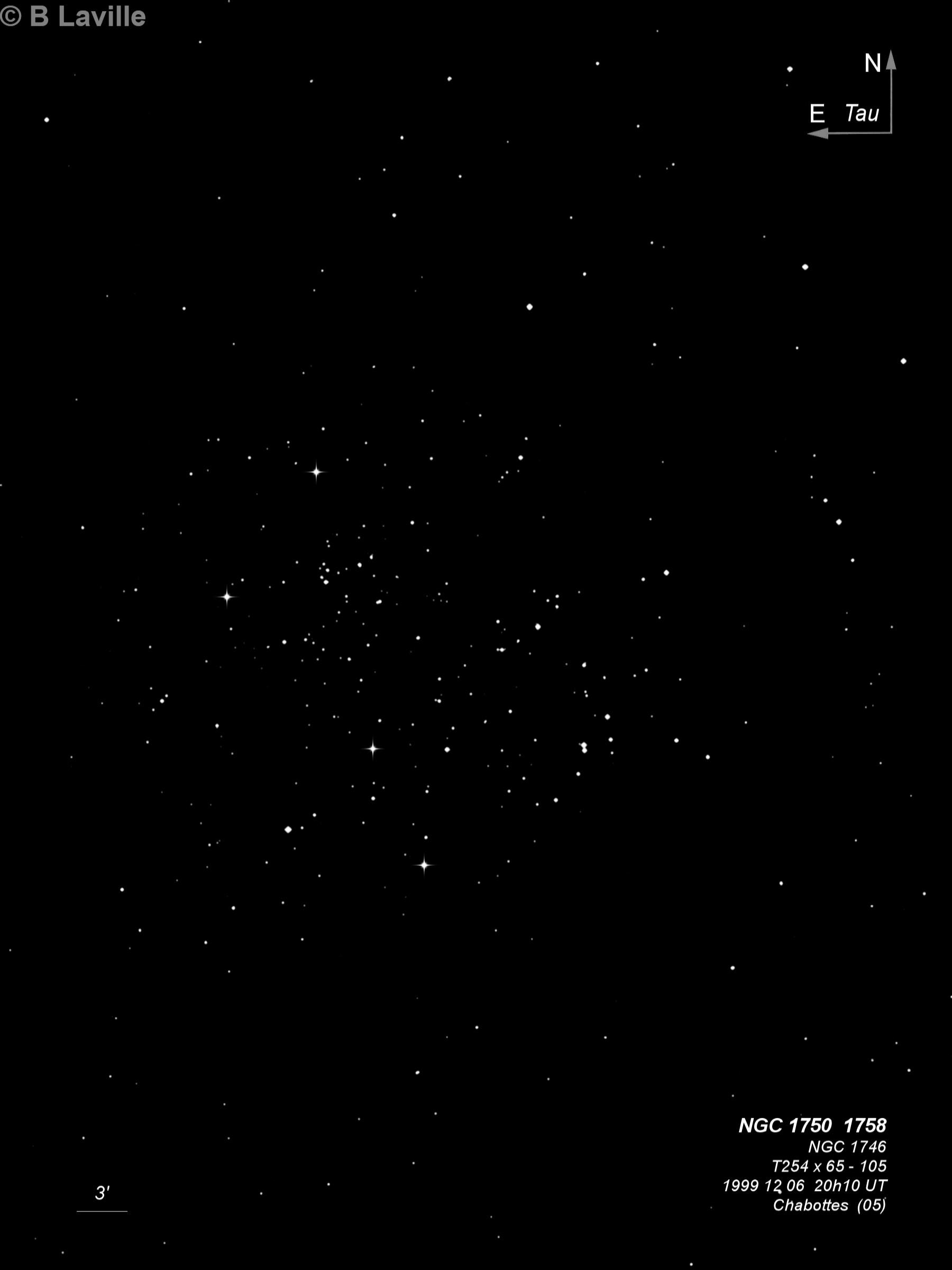 NGC 1746 + NGC 1750 + NGC 1758