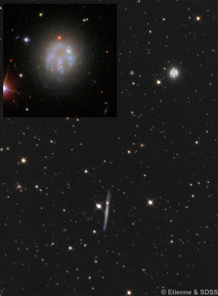 NGC 2537 (aka Arp 6) & IC 2233
