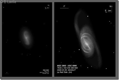 NGC 2903  T254 vs T635 BL