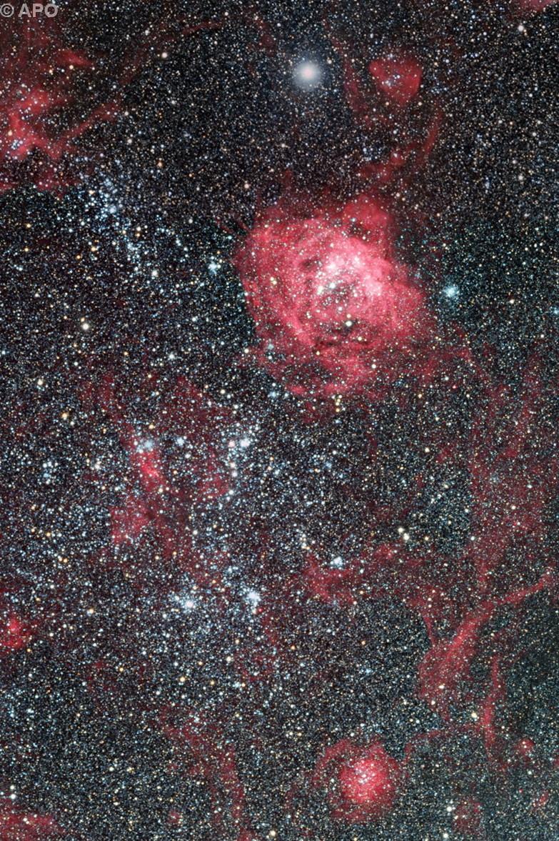 LMC N 144 & NGC 1966 region