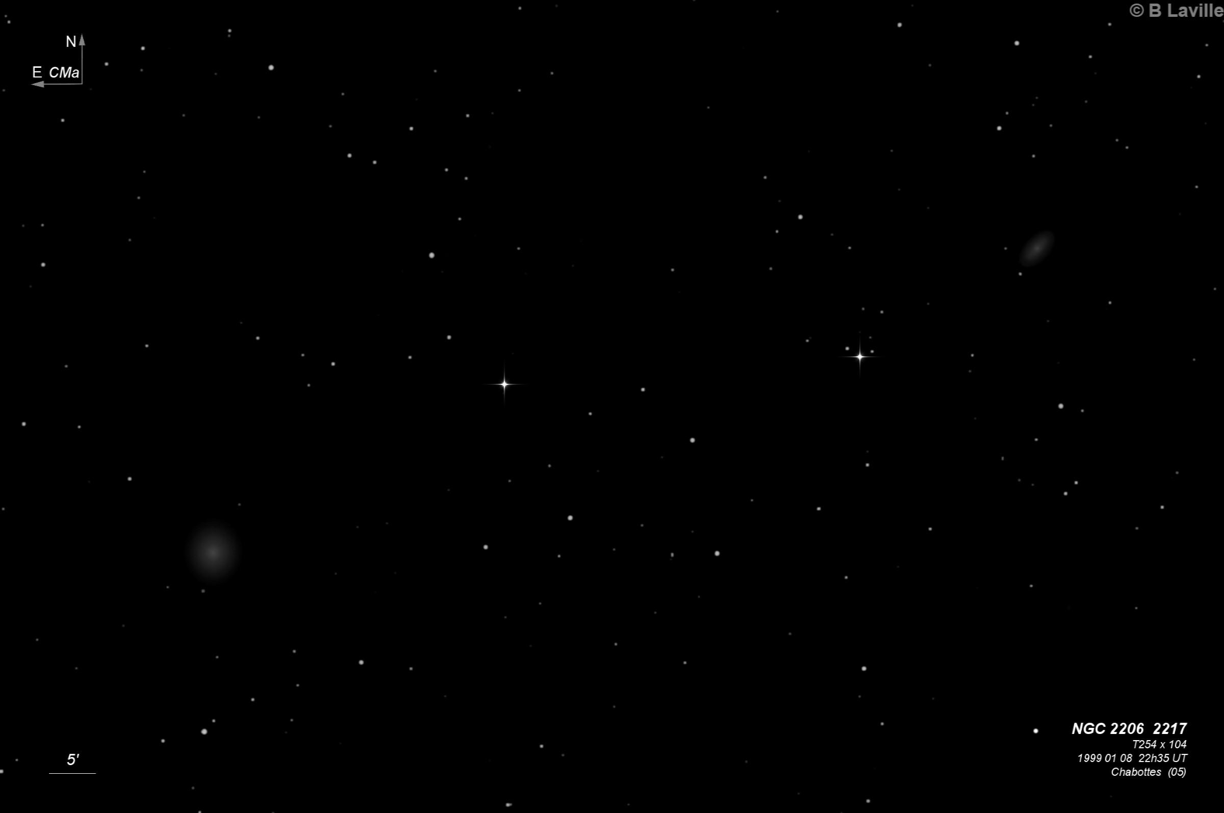 NGC 2206 & NGC 2217