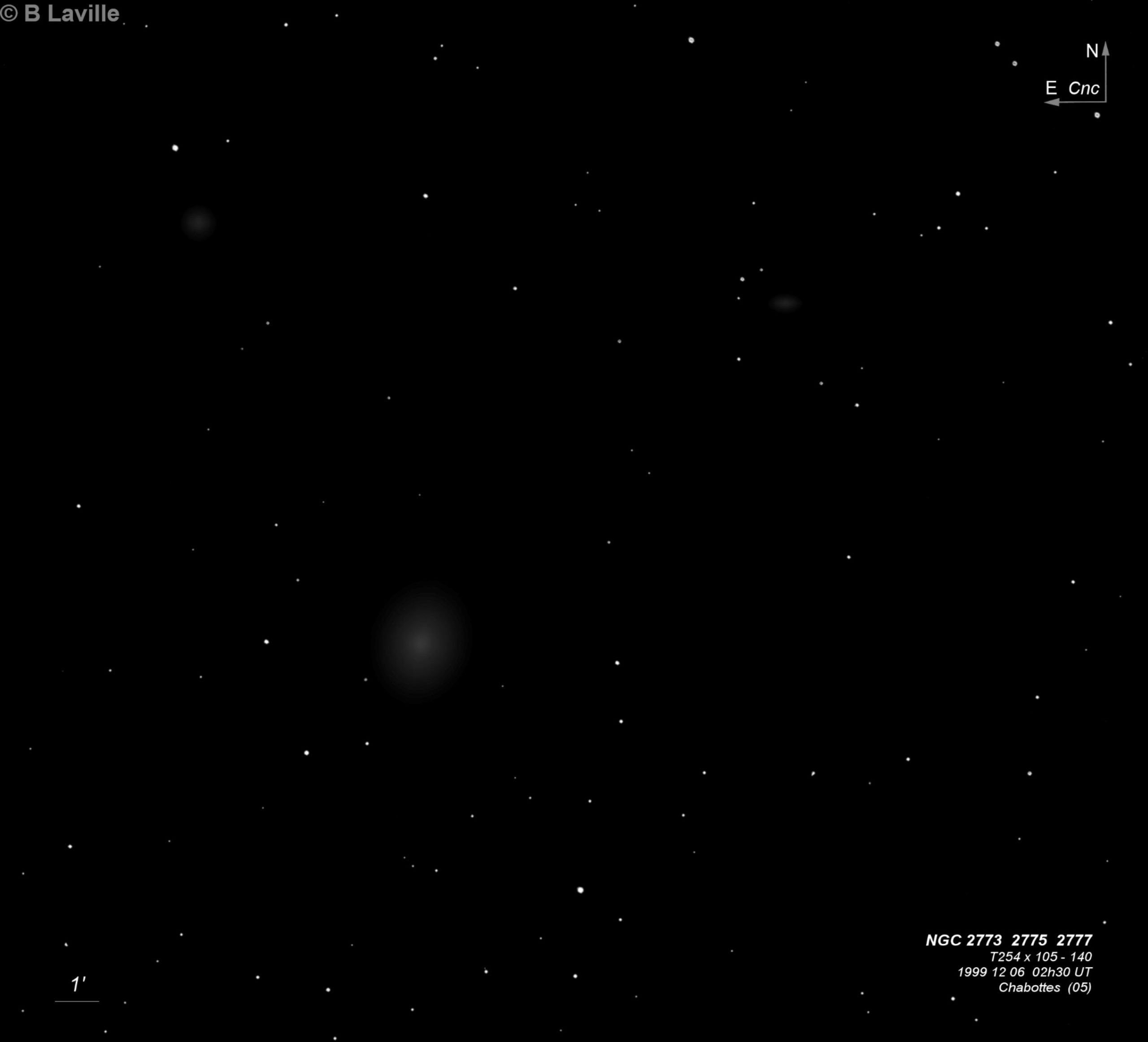 NGC 2773 + NGC 2775 + NGC 2777
